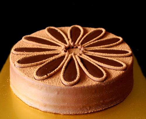 cake, choc g, flower