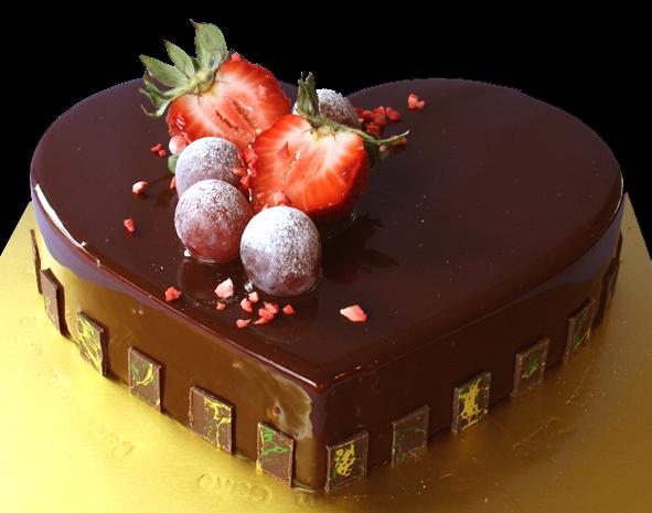cake, choc mousse, gl, heart