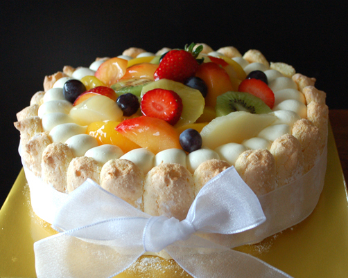 cake, fruit supreme