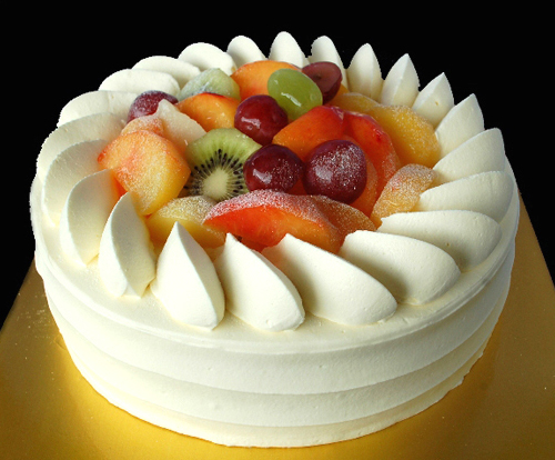 Fresh Fruits Birthday Cake